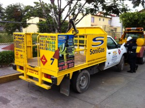Camioneta de gas recuperada Cuautla