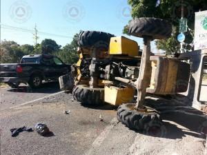 Atiende CEPCM accidente carretero en Carretera federal Cuernavaca – Cuautla Km28