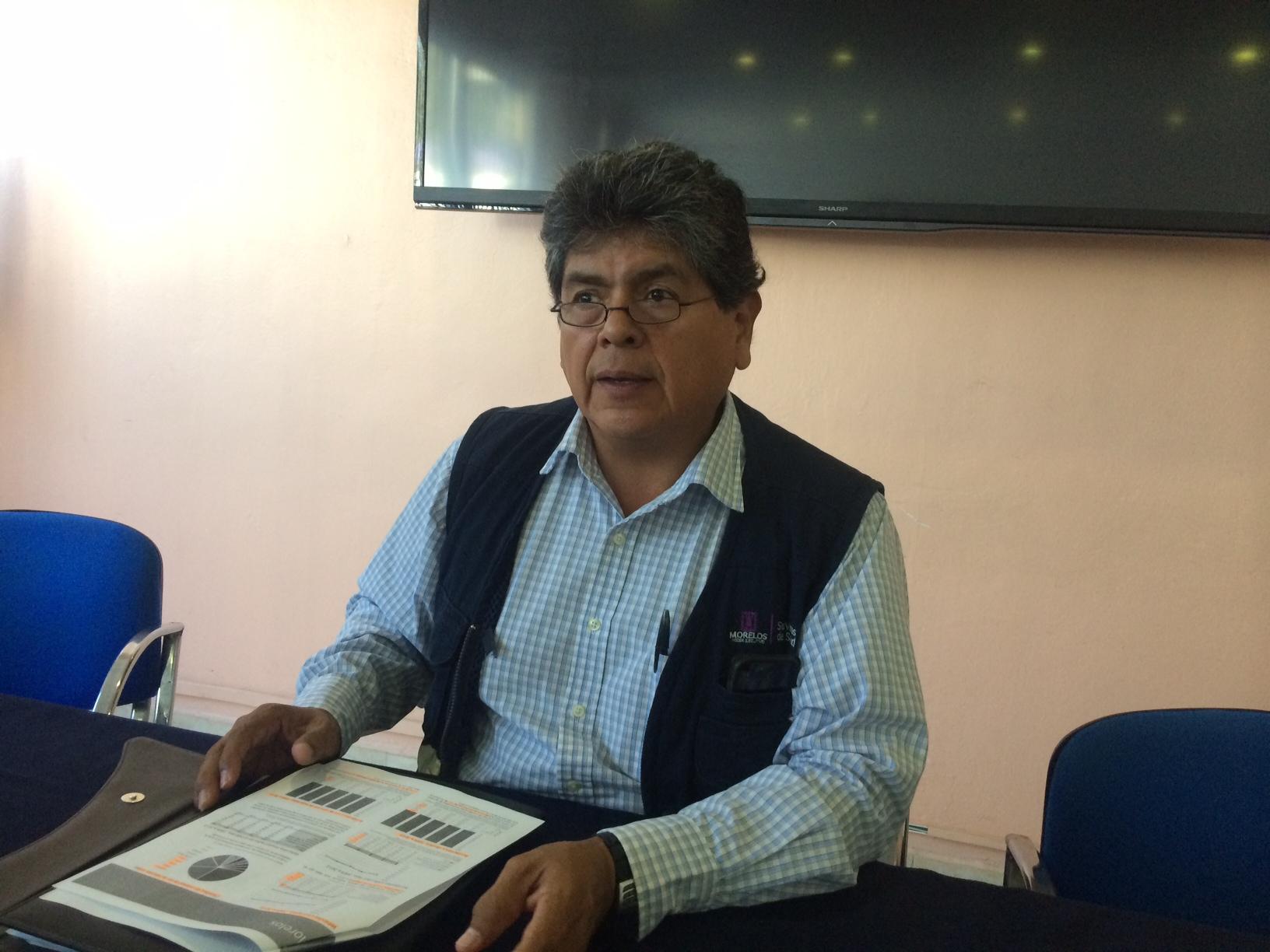 Raúl Cuauhtémoc Martínez Salgado coordinador de Epidemias y Desastres de los Servicios de Salud Morelos (SSM)
